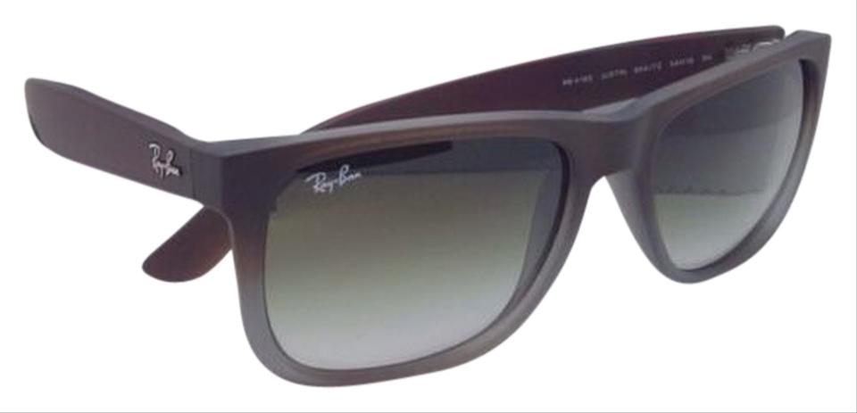 0d1dd79a15dca Ray-Ban Justin Rb 4165 854 7z 51-16 Rubber Brown On Grey W Green ...