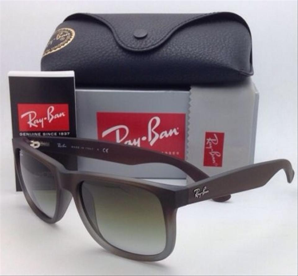 77d5004467c0f Ray-Ban Justin Rb 4165 854 7z 51-16 Rubber Brown On Grey W Green Fade  854 7z Brown-grey Frames Sunglasses - Tradesy