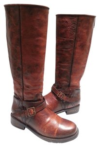 FreeBird Distressed Finish Leather Cognac Boots