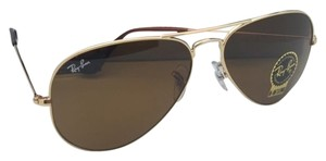 Ray-Ban New RAY-BAN Sunglasses RB 3025 001/33 58-14 Gold Aviator Frame w/ B15 Brown Lenses