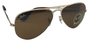 Ray-Ban New RAY-BAN Sunglasses RB 3025 001/33 55-14 Gold Aviator Frame w/ B15 Brown Lenses