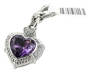 Judith Ripka Judith Ripka Diamonique and Amethyst Heart Pendant