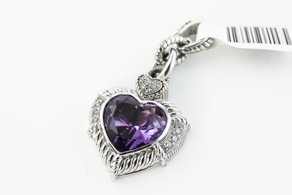 Judith ripka sterling silver diamonique and amethyst heart pendant judith ripka sterling silver diamonique and amethyst heart pendant necklace tradesy aloadofball Gallery