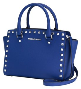 Michael Kors Satchel in Electric blue/Silver