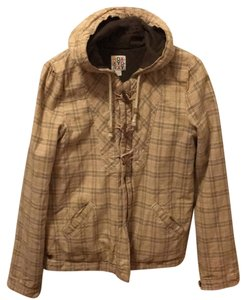 Roxy Tan w/colors & brown inner lining. Jacket