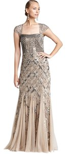 Adrianna Papell Evening Gown Beaded Bridesmaid Dress