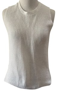 Theory Sleeveless Knitted Chic Top White