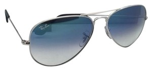 Ray-Ban Ray-Ban Sunglasses RB 3025 LARGE METAL 003/3F 58-14 Silver Aviator Frame w/ Blue+Mirror Lenses