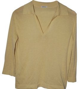 Herms Top Pale yellow/tan