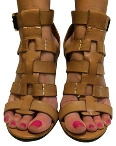 Dolce Vita Leather Gold Hardware Tan Sandals