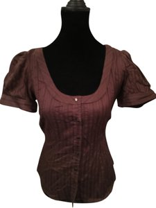 Ann Taylor LOFT Top Brown 100% Cotton