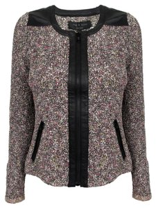 Rag & Bone Leather Pink Tweed Jacket