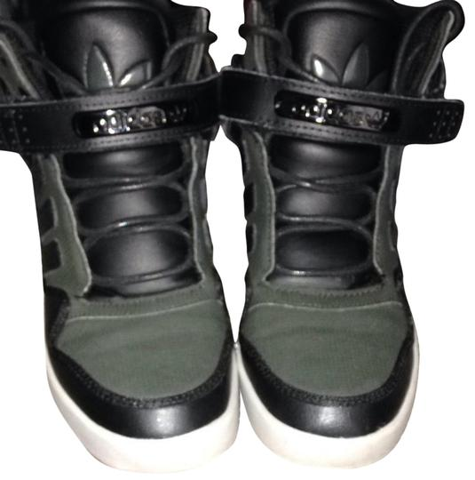 adidas Sneakers Hightop Hightops Velcro Street Style Green/black Athletic