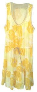 Ann Taylor LOFT short dress Yellow Cotton Tank on Tradesy