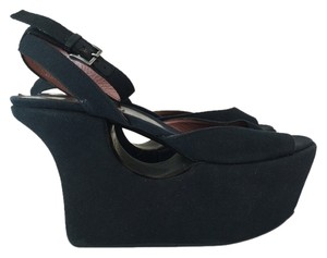 ALAÏA Platform Wedge Black Platforms
