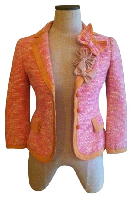 Item - Peach Cheap & Chic Jacket and Dress Skirt Suit Size 4 (S)