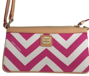 Dooney & Bourke Pink And White Clutch