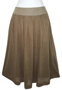 Louis Feraud Vintage Linen Knit Pleated Skirt