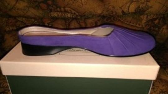 Coldwater Creek Suede Pleated Toe Size 10 Grape (purple) Mules