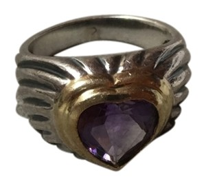David Yurman David Yurman Cable Heart Amethyst Ring