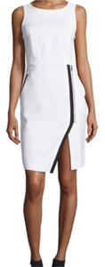 Sharagano short dress White with black trim on Tradesy