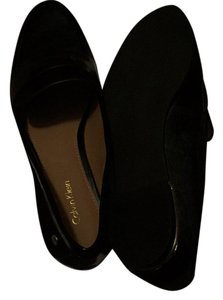 Calvin Klein Black with gold trim heel Flats