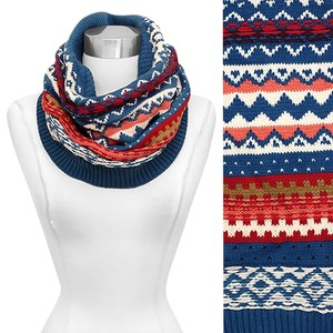 Other Chic Nordic Pattern Knit Neck Warmer/Tube Scarf