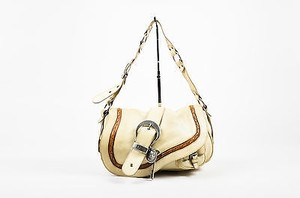 Dior Christian Leather Buckle Key Single Gaucho Saddle Shoulder Bag