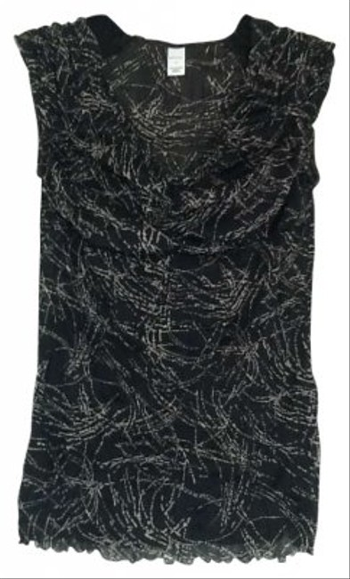 Preload https://item4.tradesy.com/images/merona-black-and-grey-sleeveless-night-out-top-size-8-m-142213-0-0.jpg?width=400&height=650