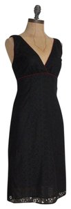 JILL MICHELLE short dress BLACK Embroidered Floral Eyelet on Tradesy