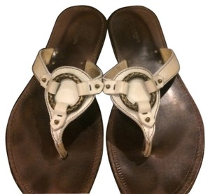 Bottega Veneta White Brown Sandals