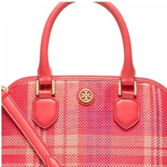 Tory Burch Satchel in Poppy Coral Image 3