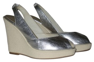 Dolce Vita 1970s Sandals Silver Wedges