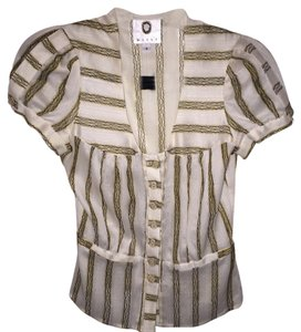 Mayle Top Beige striped