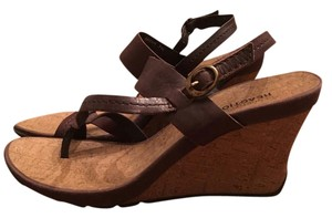 Kenneth Cole Wedge Sandal Brown Sandals