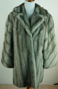 Other Vintage 60s Faux Fur Silver Jacket See Measurements Coat
