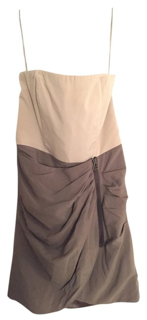 Item - Green and Grey Above Knee Formal Dress Size 4 (S)