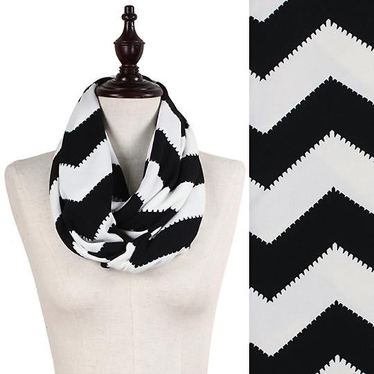 Other Very Soft Female Chevron Pattern Jersey Knit Infinity Scarf