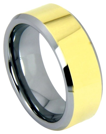 Portofino Tungsten Ring With IP Gold 6mm Sizes 5-8 Custom Made To Order Free Ship