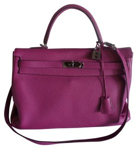 Hermès Hermes Poussiere Togo Tote in Pink