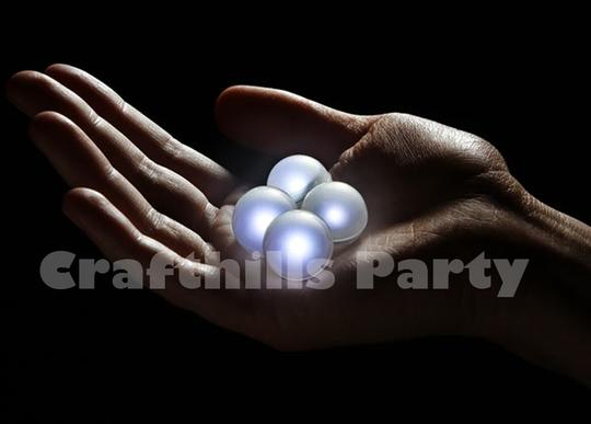24 Pcs Led Teal Green Fairy Mini Glowing Waterproof Floating Ball Light For Party Wedding Floral Decoration