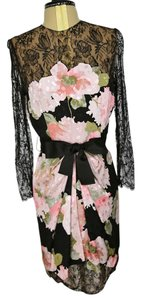 Bill Blass Vintage Silk Floral Dress