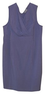 Avenue short dress Violet Side Zipper Sleeveless Pleated Front on Tradesy