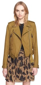 Burberry Coat Coat Moto Linen Olive green Jacket