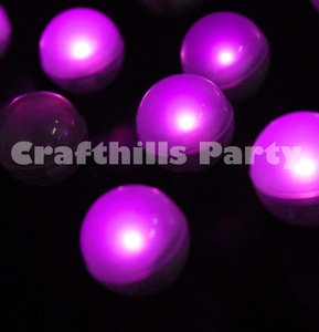 24 Pcs Led Pink Fairy Mini Glowing Waterproof Floating Ball Light For Party Wedding Floral Decoration