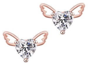Other New 14K Gold Filled Angel Wings Cubic Zirconia Small Stud Earrings J2318
