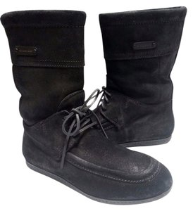 Burberry Nubuck Suede Black Boots