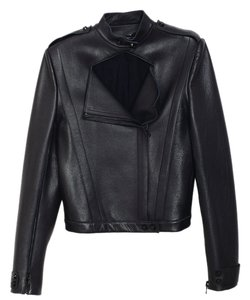 Sally LaPointe Leather Moto Leather Cape Motorcycle Jacket