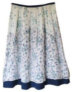 J. Jill Silk Skirt blue