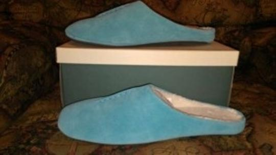 Coldwater Creek Suede Slippers Turquoise (light blue) Mules